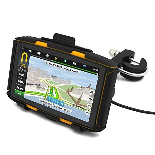 LLC-POWER 5-In Bluetooth Motorrad Navigator GPS, Free Lifetime Map Update & No Monatsgebühr, Spoken Turn-by-Turn-Anweisungen, Spurführung, Robustes Design Für Raues Wetter