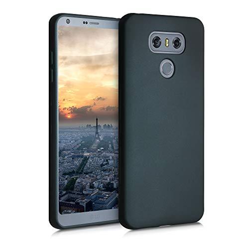 kwmobile Hülle kompatibel mit LG G6 - Hülle Silikon metallisch schimmernd - Handyhülle Metallic Petrol