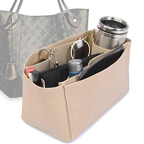 Shipping included Vegan Leather Handbag Organizer in Direct sale of manufacturer f Color Compatible Beige Dark