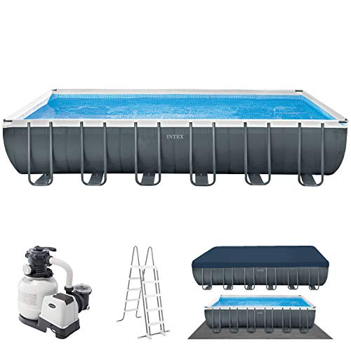 intex ultra quadra frame pool 732 x 366 x 132 cm