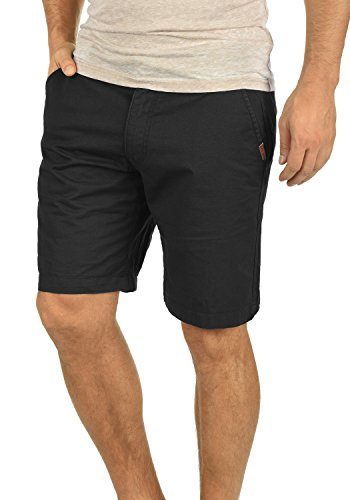 !Solid Thement Herren Chino Shorts Bermuda Kurze Hose Aus 100% Baumwolle Regular Fit, Größe:S, Farbe:Black (9000)
