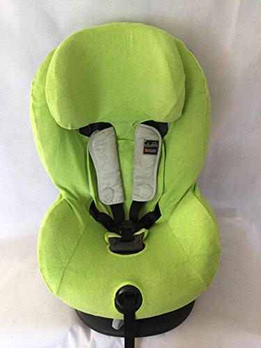 Sommerbezug Schonbezug Frottee für HTS Besafe iZi Comfort X3 Combi X4 Kid X2 Plus Frottee 100% Baumwolle grün