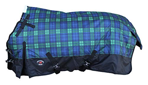CHALLENGER 78' 1200D Horse Turnout Waterproof Heavy Weight Winter Blanket 5EE14G
