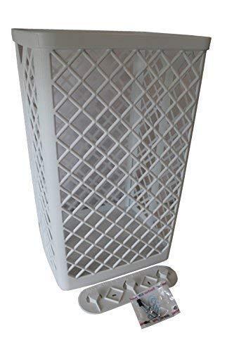 Sammelkorb Abfallkorb Korb Handtuch-Sammelkorb aus Kunststoff weiß groß 50 x 32 x 25 cm Starke Qualität 500 x 320 x 250 mm Papierkorb Wandmontage möglich