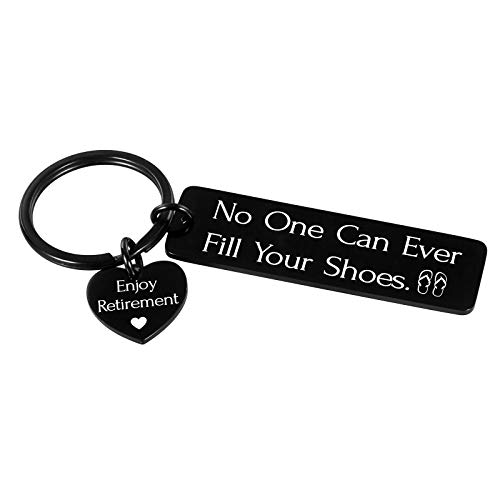 Retirement Gifts for Men Women 2020 Coworkers Leader Funny Shoes Keychain Retirement Gifts for Retired Men Women Mentor Friends BFF Managers Boss Inspirational Retirement Gift for Nurse Doctor Him Her