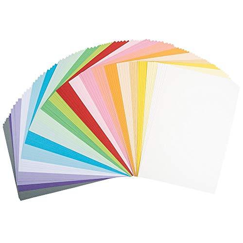 Ideen mit Herz Tonkarton   DIN A4   220g/m²   20 Farben   100 Bogen   Bastelpapier, Bastelkarton, Tonpapier, Fotokarton, buntes Papier (Pastell Farben)
