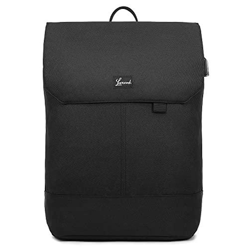 LOVEVOOK Rucksack Damen Elegant Daypack Wasserdichter Tagesrucksack mit Laptopfach 15,6 Zoll & Anti Diebstahl Tasche für Ausflüge, Uni, Schule u. Büro Schwarz