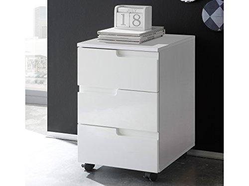 möbelando Rollcontainer Bürocontainer Beistellcontainer Rollschrank Rollwagen Suzette I