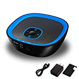 Sleepbox Sound Machine Portable Rechargeable White Noise Machine with Headphone Jack and 22 Soothing Sounds with Memory Function 32 Levels of Volume Powered by AC or USB for Baby Kids Adults (Black)