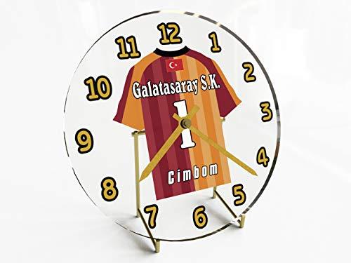 Wanduhr mit Fußball-Motiv, UEFA Champions League Teams, personalisierbar Galatasaray FC Football Team