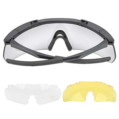 DAUERHAFT Schützen Sie die Augen mit Einer Brille zum Schießen mit Neoprenriemen vor Beschädigungen und passen Sie die meisten Gesichtsformen an