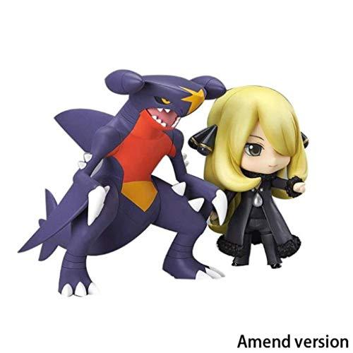 Lilongjiao Pokémon: Cynthia Garchomp Nendoroid Figuras De Acción Modelo De Juguetes