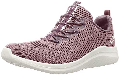 Skechers Ultra Flex 2.0-Lite-Groove, Zapatillas Mujer, Multicolor (MVE Black Mesh/Black Trim), 38 EU
