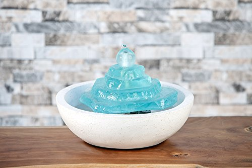 Garden Age Supply Glass Tower Cairn Water Fountain