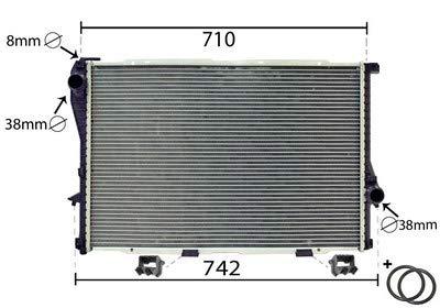 Kühler, Motorkühlung *** IR PLUS *** mit Zubehör (1710-0387) Wärmetauscher Kühlung Motorkühler