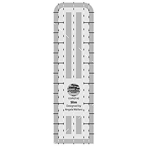 Creative Grids Machine Quilting Tool Ruler Template - Slim CGRQTA2