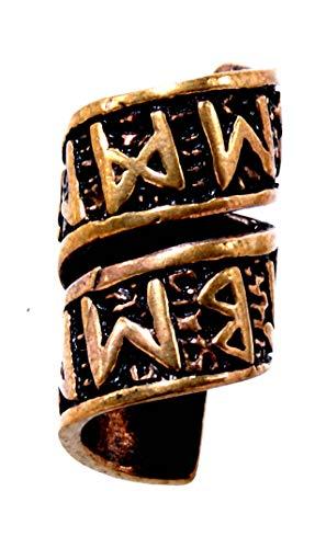 Kiss of Leather Bartperle Haarperle Bronze Runen