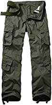 GSGGIG Men's Outdoor Hiking Pants, Tactical Pants Lightweight Casual Work Ripstop Cargo Pants for Men with Pockets 3355-Army Green-44