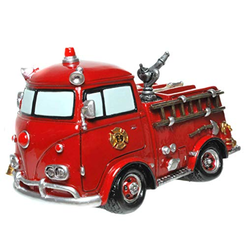 Udo Schmidt Spardose Retro-Feuerwehrauto in rot
