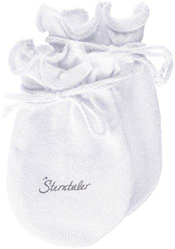 Sterntaler Kratzfäustel Jersey für Babys, Alter: 0-6 Monate, Größe: 0, Weiß
