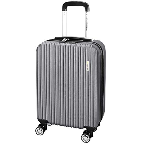 DONPEREGRINO 55cm Carry On Cabin Suitcase with 4 Smooth Double Wheels, Lightweight Combination Lock Hand Luggage Suitcases