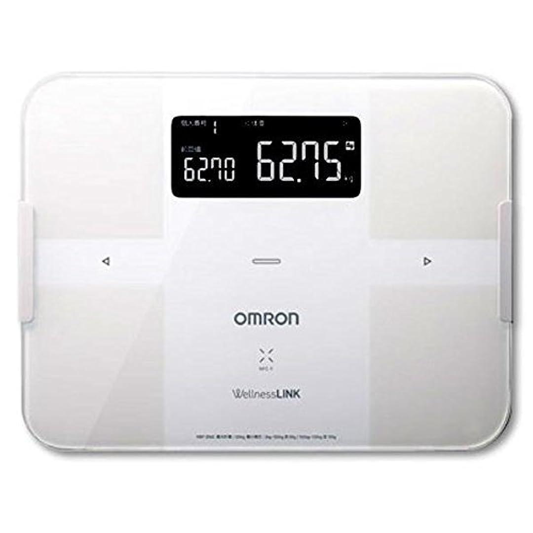 晴れ額エミュレーションオムロン 体重体組成計(ホワイト)OMRON カラダスキャン HBF-254C-W