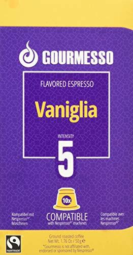 Gourmesso Soffio Vaniglia (Vanille) - 10 Nespresso kompatible Kaffeekapseln - Fairtrade