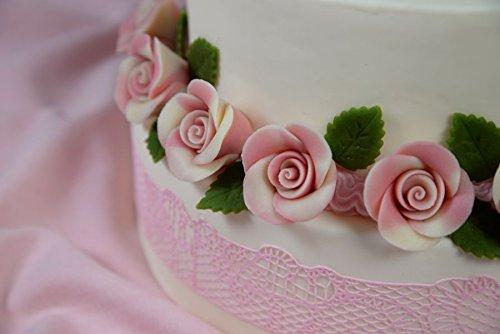 Marzipanrosen weiß/rosa 18 Stück Ø 3,5 cm