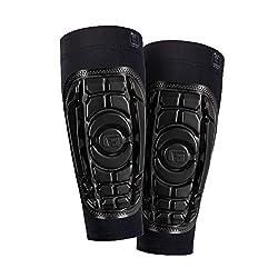 G-Form Pro-S Schienbeinschoner (Kinder/Jugendliche) für Fußball, Kickboxen und Kampfsport, Inliner, Skateboard, mit erweitertem Schlagschutz und verbesserter Flexibilität - Schwarz - Größe L/XL