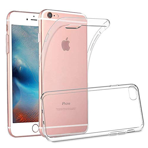 "Yichxu iPhone 6S Plus Hülle, Crystal Clear Silikon Handyhülle für iPhone 6 Plus, Weiche TPU Durchsichtige Schutzhülle Ultradünn Case Cover für iPhone 6 Plus/ 6S Plus 5.5"" - Transparent"