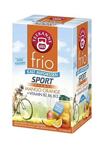 Teekanne frio Sport Vital Mango-Orange, 5er Pack (5 x 18 Teebeutel), 5 x 45 g