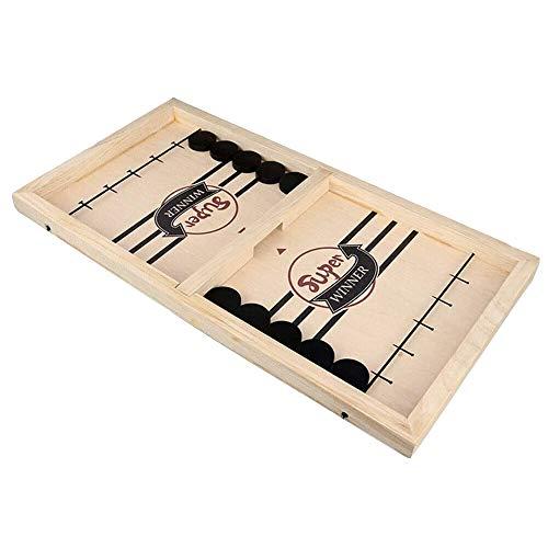 WSNDG Schnelles Schleuder-Eisschachspiel, interaktives Brettspiel mit Doppelauswurf, interaktives Kinderspielzeug (1 Satz)