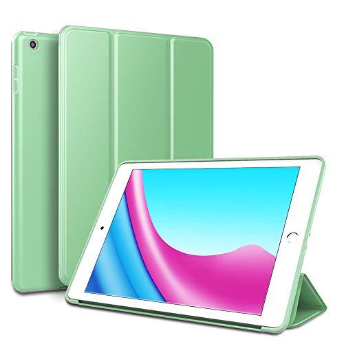 RKINC Custodia per Ipad Mini 4 (NON PER Ipad Mini 1 2 3), supporto a tre ante in pelle PU Smart Cover Slim Fit con retro morbido in TPU [Auto Sleep   Wake] per Apple Ipad Mini 4(Green)