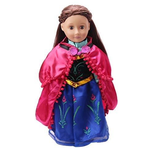 Amycute Anna Kleidung für Puppen 43 cm / 17 Zoll, Anna Kostüm für New Born Baby Doll Our Generation Puppe Amerikanische Mädchen