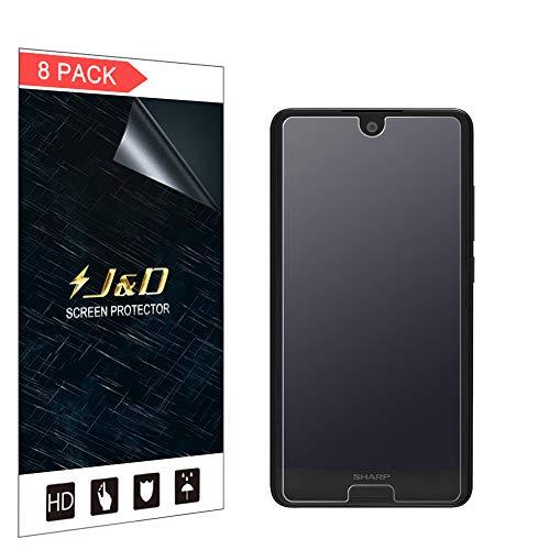 JundD Kompatibel für 8er Packung Sharp AQUOS C10 Bildschirmschutzfolie, [Antireflektierend] [Nicht Ganze Deckung] Matte Folie Schutzschild Bildschirmschutzfolie für Sharp AQUOS C10 - [Nicht für AQUOS B10]