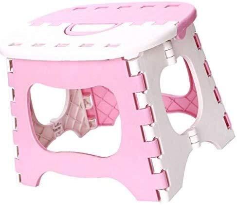 Aoyo Toddler kinderkruk, klein, antislip kunststof, inklapbaar, voor badkamer, outdoor, training, kruk met handvat