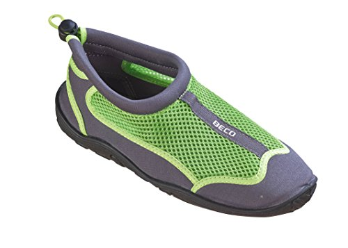 Beco Unisex Aquaschuhe Surfschuhe Stand Up Paddling Wattschuhe N EUe Kollektion Schuhe, Grau/Grün, 38 EU