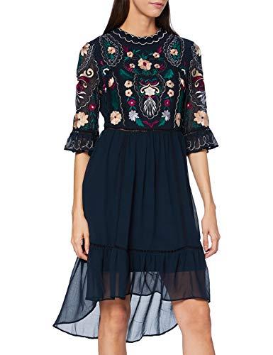 Frock and Frill Damen Imelia Embellished Knee Length Dress Formales Abendkleid, Navy, Medium