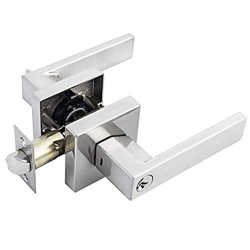 Función de entrada Cerradura de puerta de baño Cerradura de puerta con manija cuadrada, especialmente para niños, ancianos/cualquier persona con artritis