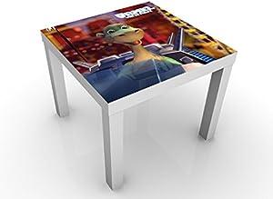 Unbekannt Diseño Mesa Auxiliar Urmel Voll in Fahrt 55x 45x 55cm Mesa Auxiliar, Mesa de café, diseño de, habitación de los niños Dinosaurio dragón Oso Panda Aventura