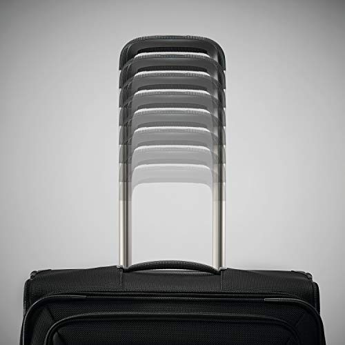 Samsonite Lineate Softside Expandable Luggage with Spinner Wheels, Obsidian Black, Carry-On 20-Inch