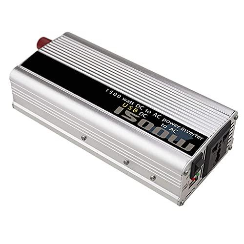 SGSG Inversor de energía de Onda sinusoidal modificada 600 Watt Peak 1500w DC12 / 24 Volt a AC 110/220 Volt con Salidas de CA y Puerto USB para situaciones de Barco/automóvil/RV/camión/em