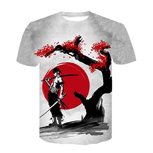 Chenma - T-shirt à manches courtes - Imprimé 3D One Piece - Coupe droite - Pour homme - multicolore - Taille M
