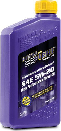 Royal Purple 12520 API-Licensed SAE 5W-20 High Performance Synthetic Motor Oil - 1 qt. (Case of 12)