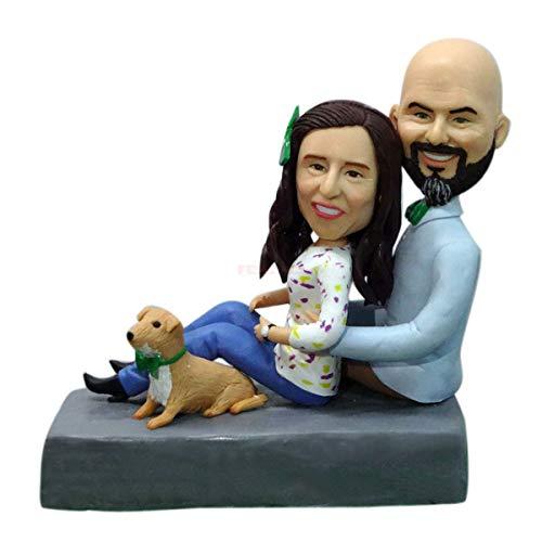 Muñecos personalizados bobblehead familias figuras