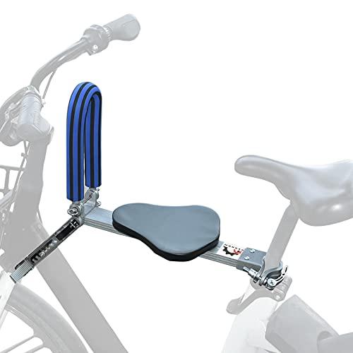 Roeam Sillas de Bicicletas para Niños,Asiento Delantero Plegable con Pasamanos,Asiento para Niños Portátil y Ultraligero,Fácil de Instalar