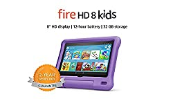 """A full-featured 8"""" HD tablet (not a toy) with a kid-proof case, parental controls, 2-year worry-free guarantee and 1 year of Amazon Kids+ with apps, games and videos. 2-year worry-free guarantee: if it breaks, return it and we'll replace it for free...."""