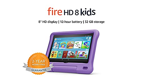 Fire HD 8 Kids tablet | 8' HD display, 32 GB, Purple Kid-Proof Case