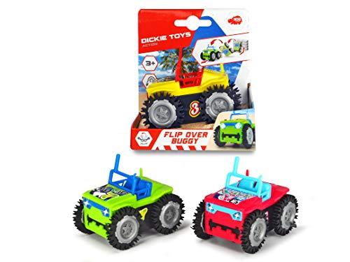 Dickie Toys Flip Over Buggy mit Überschlagfunktion, Spielzeugauto mit Batterieantrieb, 3 verschiedene Ausführungen, 9 cm, ab 3 Jahren