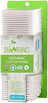 500-Count Sky Organics Cruelty-Free Biodegradable Cotton Swabs